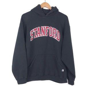 Russell Athletic Stanford Black Hoodie Sz Large